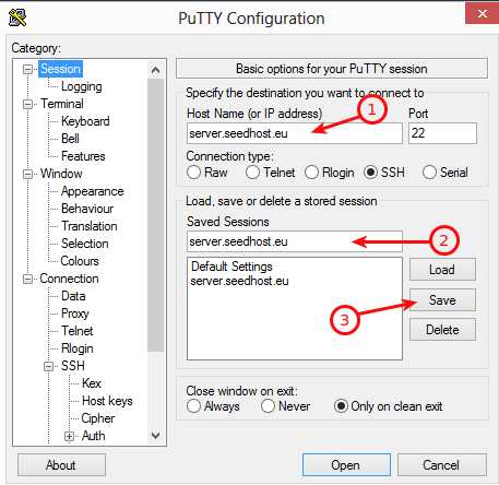 Plex putty configuration