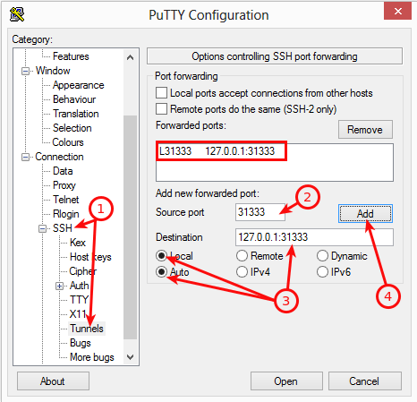 Plex putty configuration 2