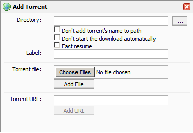 Add ad torrent menu icon