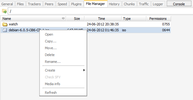 File Manager tutorial screen